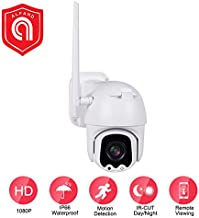EVERSECU Outdoor PTZ (4X Optical Zoom) HD 1080P WiFi Security Camera - Pan Tilt Wireless IP Camera with Night Vision up to 196ft, IP66 Weatherproof, Motion Alerts, SD Card and Cloud Storage
