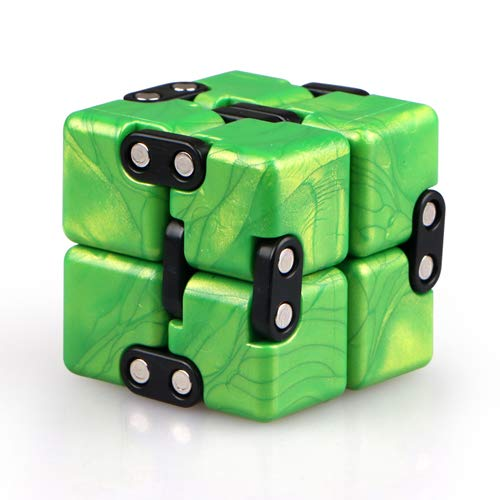 QIYI Little Golden Elephant Upgraded Infinity Cube Fidget Toy,Cool Mini Gadget Best for Stress and Anxiety Relief and Kill Time, Special Designed Texture Artistic and Fashion(Emerald Green)