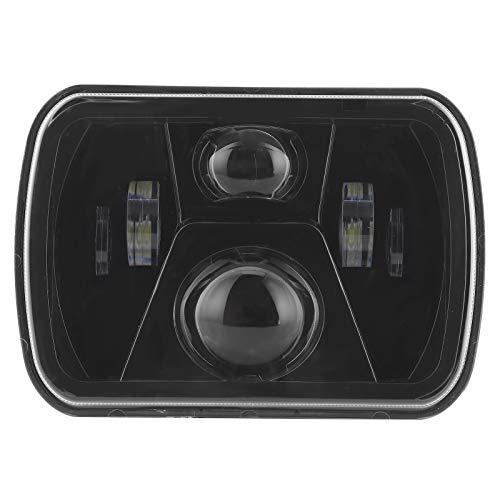 H4 Faros delanteros LED de 7 pulgadas Faros delanteros rectangulares de haz alto y bajo Faros delanteros cuadrados Faros delanteros de alto brillo 12-24 V Ajuste para Wrangler YJ