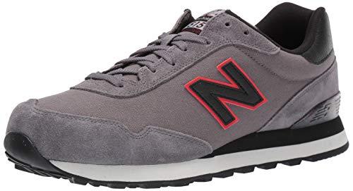 New Balance 515, Zapatillas Hombre, Gris (Grey/Black Grey/Black), 41.5 EU