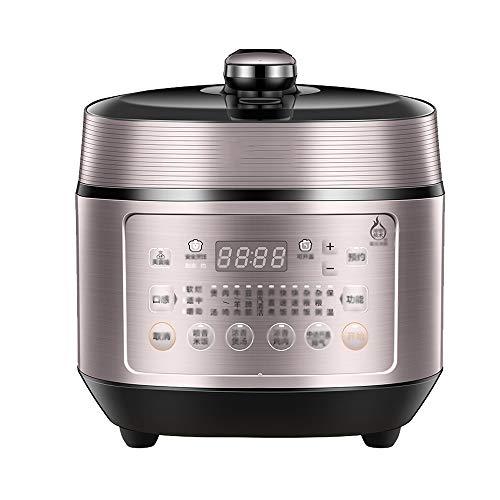 robot cocina Olla de presión eléctrica doméstica, 5l de gran capacidad inteligente de múltiples funciones de la bilis de alta presión for cocinar arroz, 6 capa compuesta Liner, tapa extraíble interior