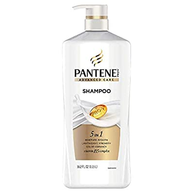 Pantene Pro-V Advanced Care Shampoo, 38.2 oz, PUMP BOTTLE, for all hair types