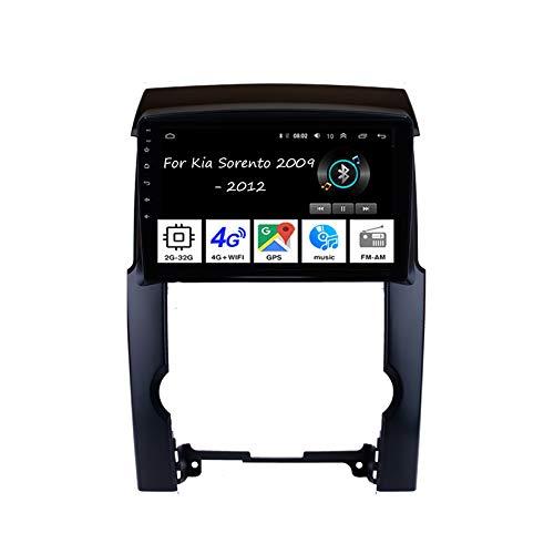Android Autoradio 9 Pulgadas Coche Radio De Coche Pantalla Tactil para Kia Sorento 2009-2012 4 Cores 2G+32G para De Coche Conecta Y Reproduce Autoradio Mit Bluetooth Freisprecheinrichtung