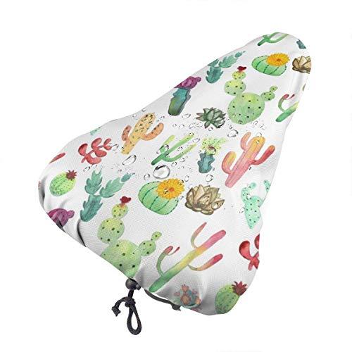 Du-shop Bunte vibrierende Kaktus-Sukkulenten Wasserdichter Regenbezug für Fahrradsitze mit Kordelzug, Regen- und staubdicht