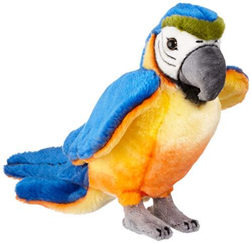Steiff Lori Papagei - 26 cm - Papagei stehend - Kuscheltier für Kinder - weich & waschbar - National Geographic - blau/gelb (063879)