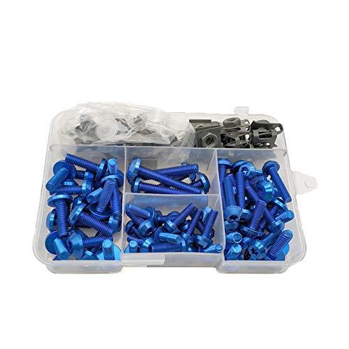Lhtyouting Sujetadores de motocicleta Tornillos de clip Conjunto Juego de pernos de carenado para BMW C 600 650 SPORT C 650 400 GT F 650 700 GS R1250GS zxlyt (Color : Blue)