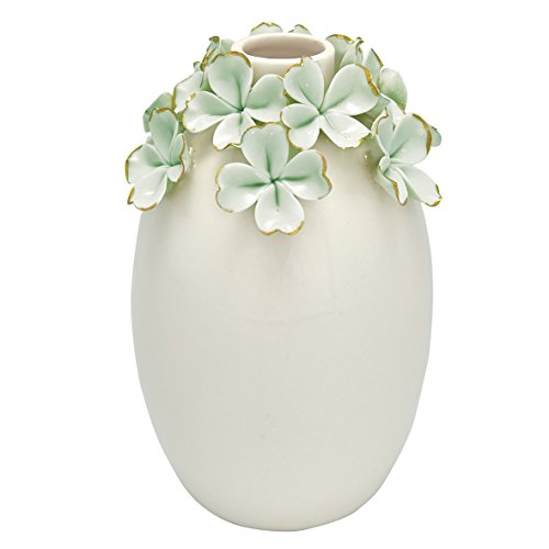 GreenGate CERVASLFLW3904 Vase Flower Pale Green 15 cm (1 Stück)