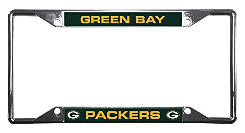 NFL Rico Industries Easy View Chrome License Plate Frame, Green Bay Packers