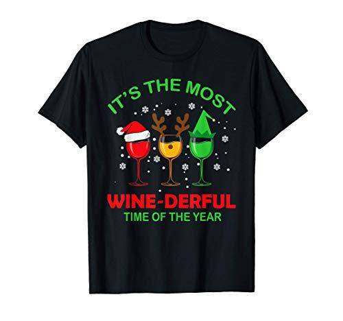Camiseta navideña, Xmas Wine, It's the Most wine-derful Camiseta