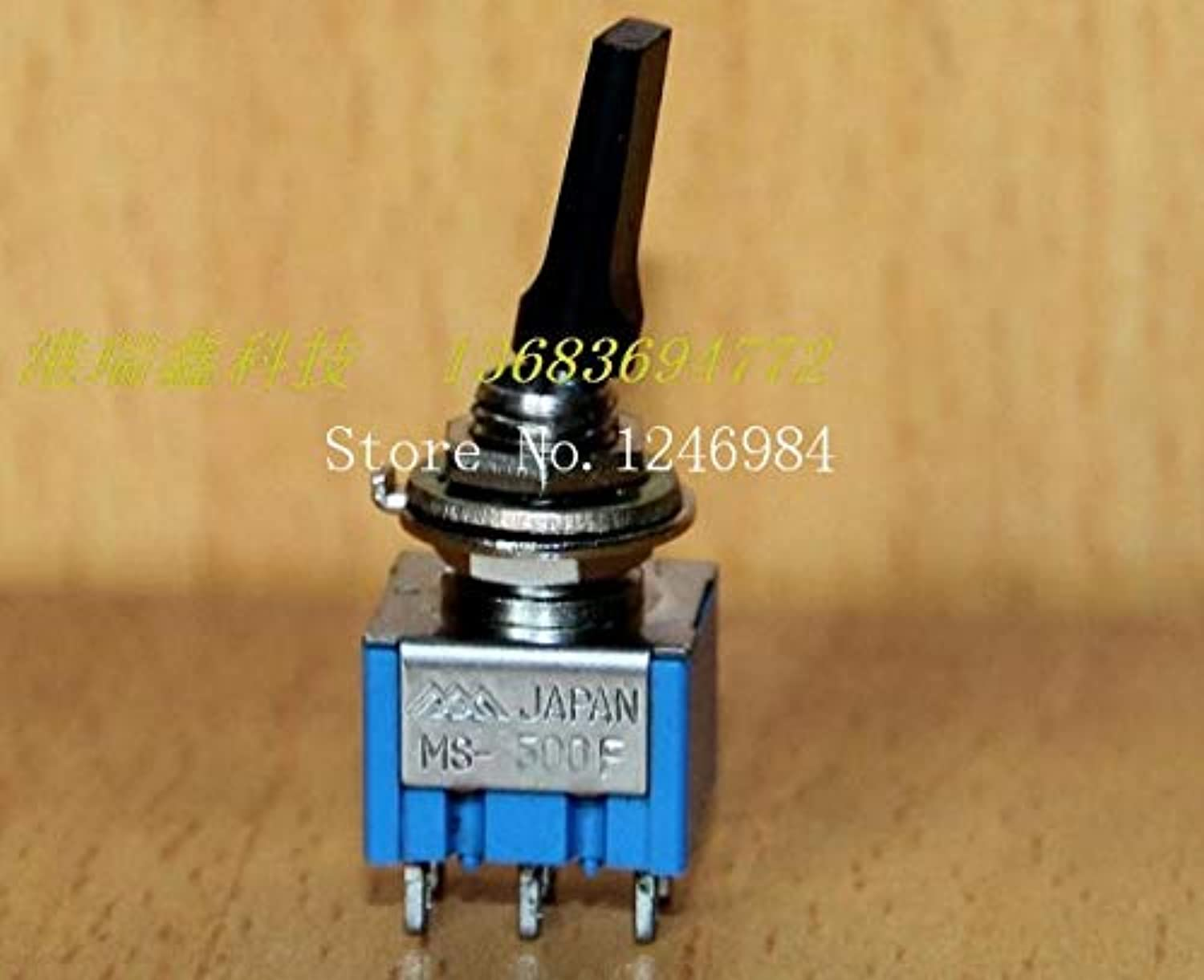 [SA]Dual six Foot Two tranches M6.35 Black Flat Handle Small Toggle Switch Japan Three Mountain Overstock MS500-F { }-20pcs lot