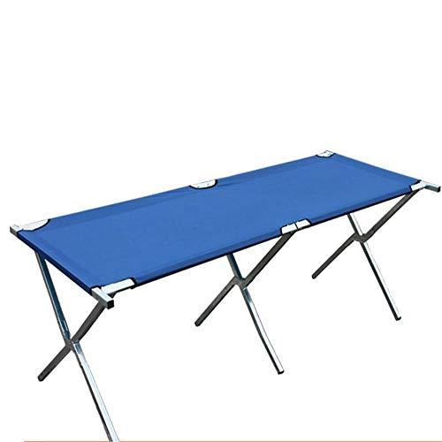PN-Braes Mesa de Camping portátil Tabla Que acampa Plegable Azul de la Mesa de Picnic del Marco metálico en Tres Diversos tamaños Fácil de Limpiar (Color : Blue, Size : 150 * 70 * 70cm)