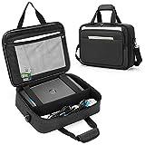 SAMDEW Aufbewahrungs Tasche für Mobile Drucker, Kompatibel mit HP Tango/Tango X, HP Officejet 250/200, Trage Tasche für Tragbare Drucker, mit Laptop Schicht(bis zu 14
