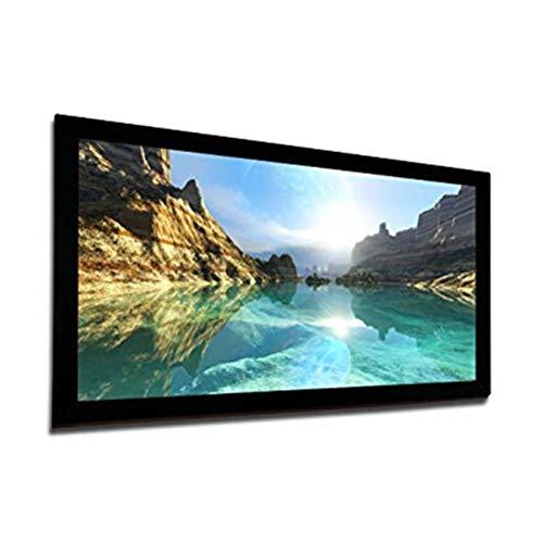 Yousiju Pantalla de proyección de proyector de Marco Fijo más económica HDTV 16: 9 con Material Gris Plateado 3D de Alta Ganancia (Size : 300 Inch)