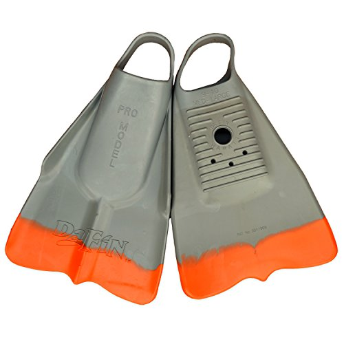 DaFin Grey/Orange Swimfins - S