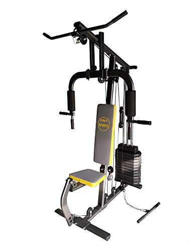 D PRO T Home Multi Gym 50KG Plates Preacher Pulley Exercise Machine Lats