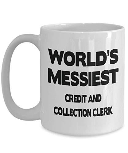 DJNGN Los mejores obsequios de empleado de crédito y cobranza Regalos de empleado de crédito y cobranza a granel - Taza de asistente de crédito y cobranza para hombres y mujeres Taza de café/té de c
