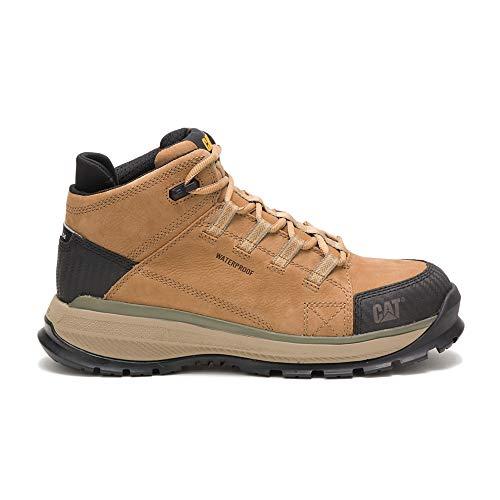 Caterpillar Men's Utilize Waterproof Alloy Toe Work Boot Construction, Sand, 9.5 Wide