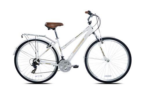 Kent International Springdale Hybrid Bicycle, White, 29 inch