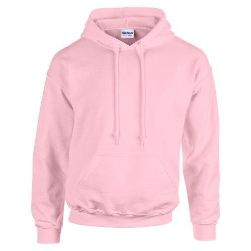 Gildan Heavy Blend Felpa, Rosa (Light Pink 000), L Uomo
