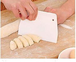 2 PCS Dough Scraper and Plastic Cake Scraper Cream Spatula DIY Pastry Cutters Scraper Bread Cutter Pastry Baking Tools Kit...