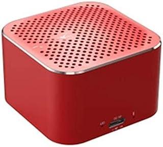 KJRJLY Small Steel Cannon Bluetooth Speaker Metal Mini Wireless Bluetooth Speaker Gift (Color : Red)