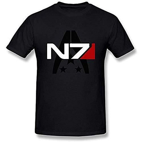 Limei Men Mass Effect Alliance N7 Insignia Tee Shirts L