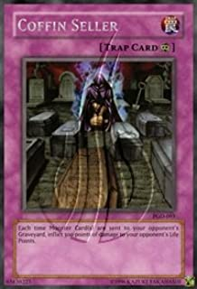 2003 Pharaonic Guardian Unlimited PGD-93 Coffin Seller(R) Rare / Single YuGiOh! Card in a Protective Deck Sleeve