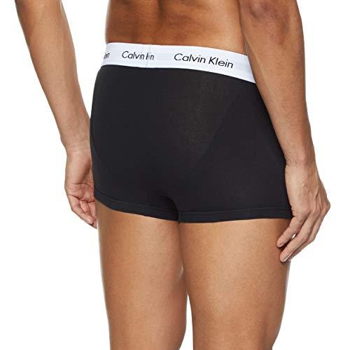 Calvin Klein Underwear Men's Hip Trunks Pack of 3 - Cotton Stretch, BLACK (BLACK/WHITE/GREY HEATHER), M