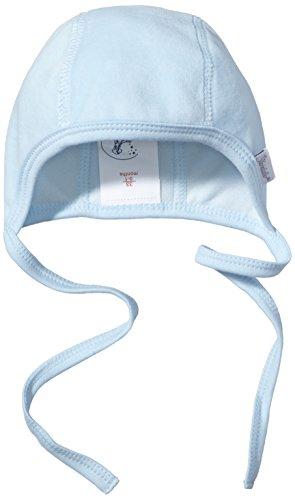 Sterntaler Häubchen für Mädchen mit Bindeband, Alter: ab 0 Monate, Größe: 37, Blau