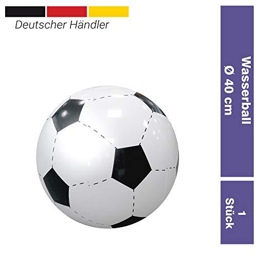 elasto Wasserball aufblasbar -Fußball- Ø 40 cm robuster riesen Strandball aufblasbar Beachball