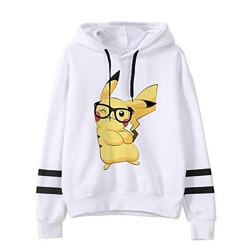 Pokemon Detectiv Pikachu Hoodie Weiblich Lustig Pika Kawaii Sweatshirt Frau Kleidung Weiblich Pullover Cartoon Japanische Koreanische Männer-2520_M