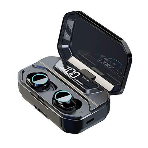 Bascar Auriculares deportivos G02 True HiFi Bluetooth 5.0, estéreo, inalámbricos, deportivos, con micrófono