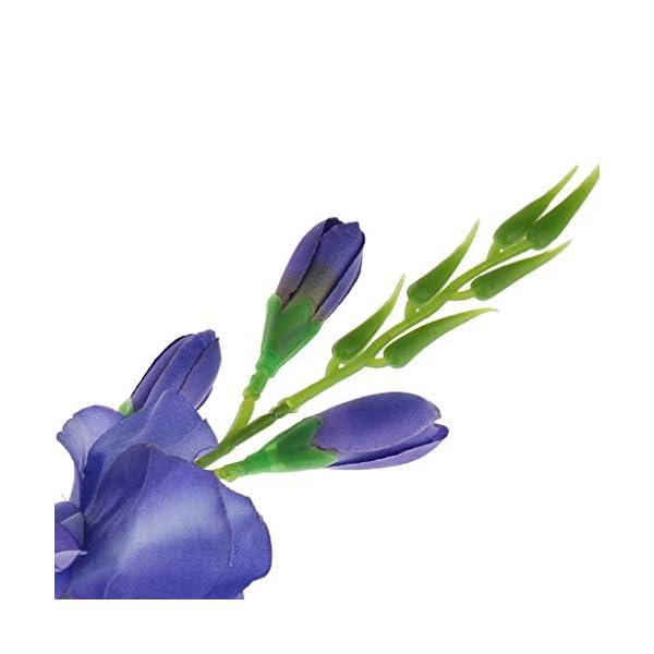 Homyl Gladiolo Artificial Spray Tallo Falsa Seda Tropical Flores Gladiolo Azul