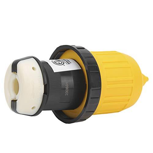 TAKE FANS Útil conector de cable de RV enchufe de bloqueo con anillo de cubierta de corriente de 30 A 125 V para remolque de caravana