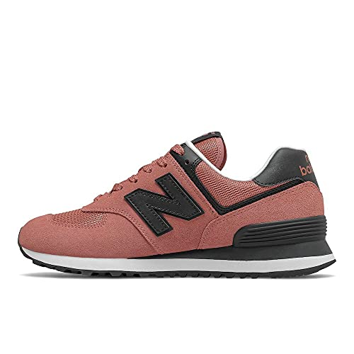 New Balance Women's 574 V2 Essential Sneaker, Washed Henna/Bl, 8.5