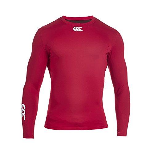 Canterbury Cold e544110 – T-Shirt de Compression à Manches Longues pour Homme XL Rouge