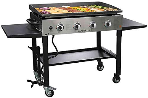 Blackstone 1565 36 Inch Outdoor Propane Gas Griddle Stainless Steel / Black, 4 Independent Burners,...