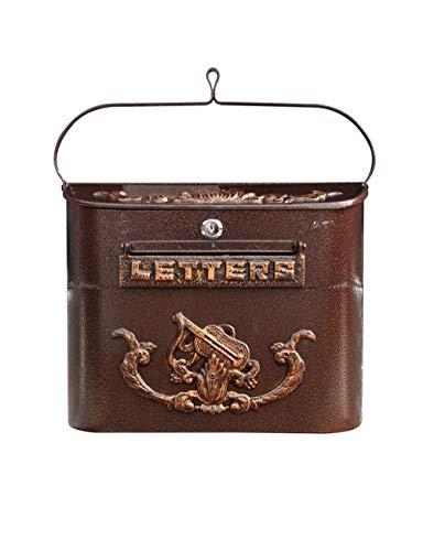 Afsluitbare weerbestendige postdoos - Europese buitenwand gemonteerde waterdichte brievenbus - Office Drop Box - Comment Box - Brievenbus - Stortdoos, bruin Afmetingen: 42.5x37.5x8.5cm