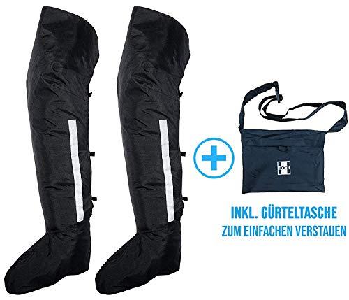 HOCK Guêtres de pluie extra longues - Alternative pratique au pantalon de pluie - 100 % étanche - Protection contre la neige et la pluie pendant le cyclisme - Noir, M (39-41))