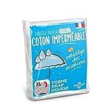 Sweethome | Protège Matelas Imperméable - 140x190/200 cm - Bouclette 100% Coton - Anti Acariens - Souple et Silencieux - Forme Drap Housse - Lavable en Machine