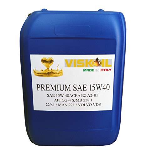 Viskoil 20 Litri Olio Motore 15w40 per Auto Trattore