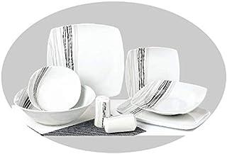 Topkapi Service de table 28 pièces en porcelaine - Motif Summer Light TK-841 - Pour 6 personnes
