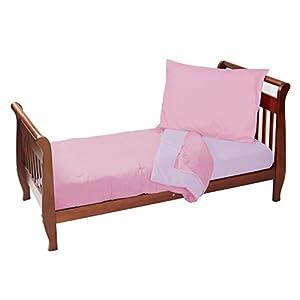 Baby Doll Bedding Reversible Toddler Bedding Set, Pink/Laven