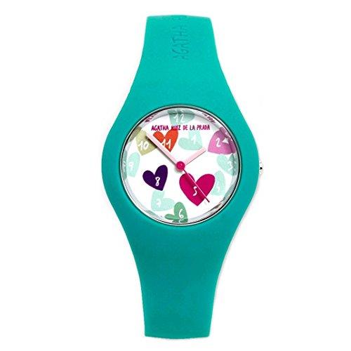 Agatha Ruiz de la Prada Armbanduhren Kinder und Jugendliche Analog Quarzwerk Silikonband AGR224