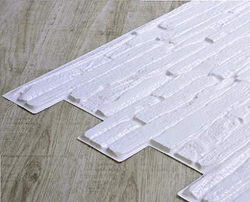 STM Dekor   PVC Paneele White Quarzite   1 Platte   Stein   Wandpaneele   Deckenpaneele   Tapete   Wanddeko   Wandaufkleber   Schaumstoff   Wasserfest   Kunstoff Platt