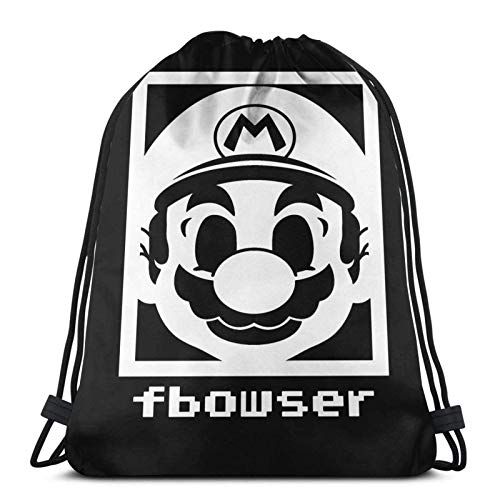 WH-CLA Drawstring Backpack Mr.Game \U0026 Watch Durable Women Unique Drawstring Bags Cinch Bags Casual...
