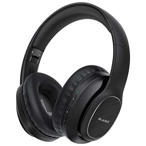 Bluetooth Headphones Over Ear, BLARO Hi-Fi Deep Bass Wireless&Wired Headsets, 53 Hours Playtime,Soft Memory Protein Earmuffs, Foldable Headphones with CVC6.0 Mic