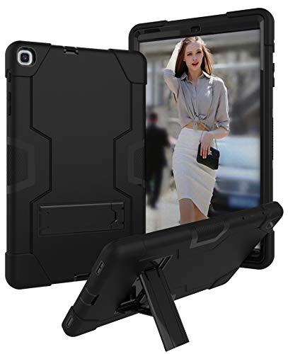 Bspring Custodia per Galaxy Tab A 10.1 2019, Hybrid Armor Antiurto e Sporco con Kickstand Protettiva Custodia per Samsung Galaxy Tab A 10.1 2019 T510 T515, Nero