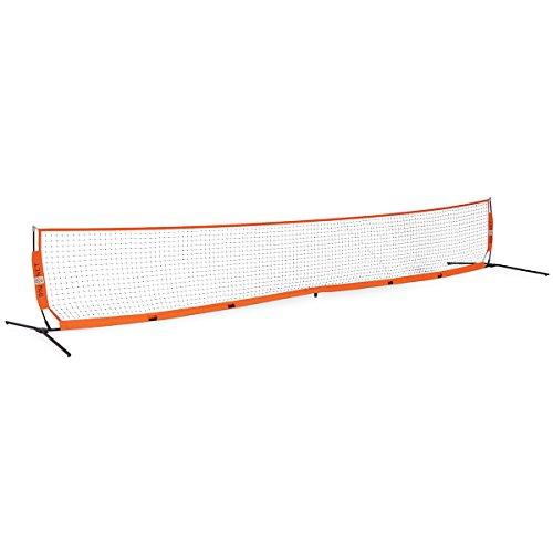 Bownet 18' x 2.9' Portable Barrier Net - Baseball, Softball, Soccer, Tennis Protection Net - Durable Powder-Coated Steel Frame - Travel Bag, Orange (Bow-18x2.9)
