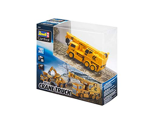 RC Baufahrzeug kaufen Baufahrzeug Bild 1: Revell Control 23497 RC Baufahrzeug Kranwagen, 40MHz, Akku ferngesteuertes Auto, gelb-orange, 12,5 cm*